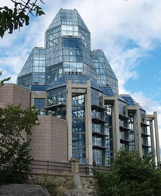 National Gallery of Canada - Ottawa, Ontario, Canada;  an art gallery designed by Moshe Safdie;  opened in 1988;  photo by Catherine Bulinkski