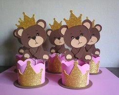 Centro de mesa ursa princesa
