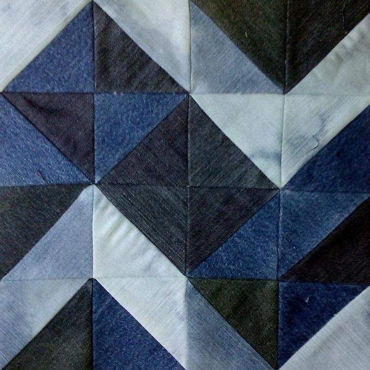 Chunky Chevron Jean Quilt Block | Craftsy