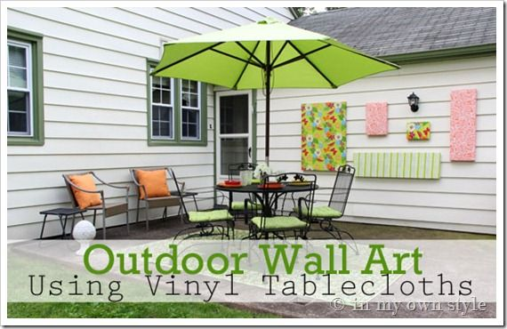How To Make Outdoor Wall Art - In My Own Style