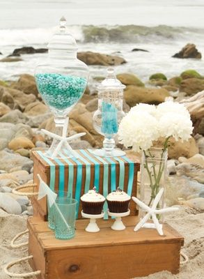 beach themed wedding decorations dessert bar concept colors wedding ideas 1558