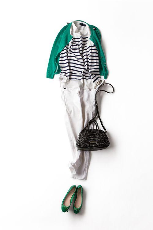 コーディネート詳細(パリジェンヌの風情漂うボーダースタイル)| Kyoko Kikuchi's Closet|菊池京子のクローゼット