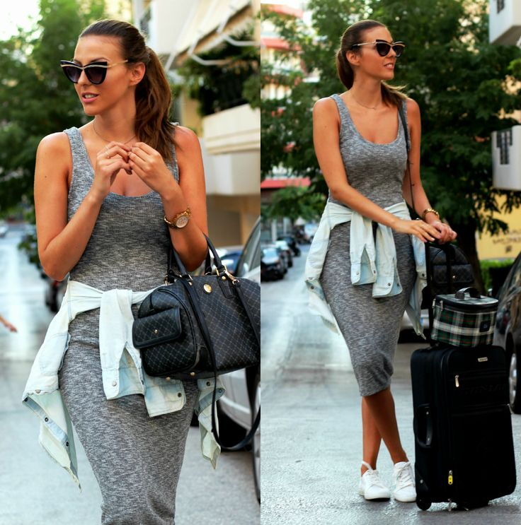 fashion, travel, street style, grey