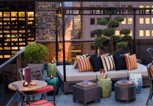 New York's 13 Best Rooftop Bars & Lounges (Salon de Ning + Hudson Terrace + 230 Fith + The Brass Monkey + The Crow's Nest at the Water Club + A 60 Thompson Hotel + Upstairs at the Kimberly + The Sky Terrace at the Hudson Hotel + Press Lounge + Pool Lounge at The Dream Downtown + Four at Yotel + Gansevoort Park Rooftop + Jimmy at The James Hotel)