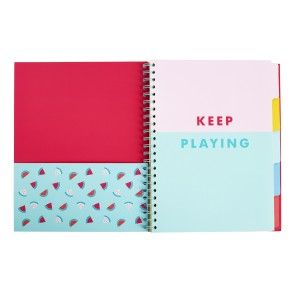 A4 5 TAB NOTEBOOK: CUTE
