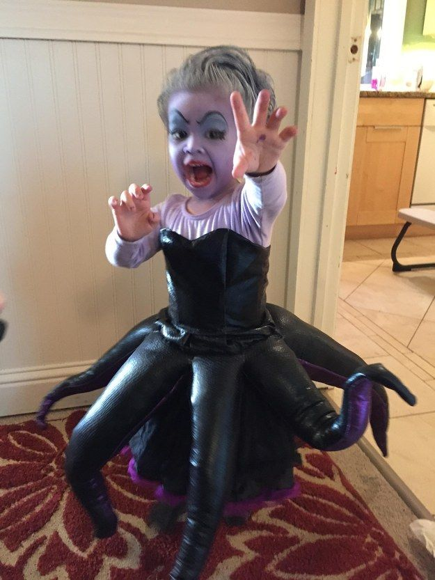 This kid as Ursula from The Little Mermaid.