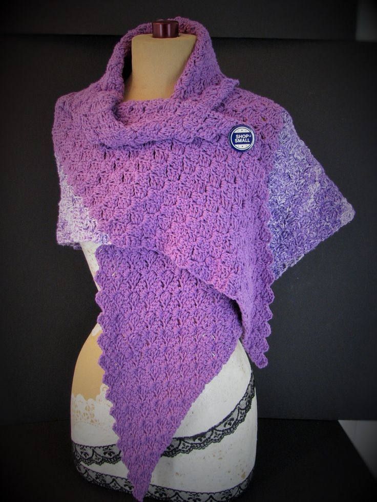 chrome hearts glasses frames men Purple Heather Shawl   Large Triangle Wrap   Cotton Blend Super Soft Crochet   pinned by pin4etsy com