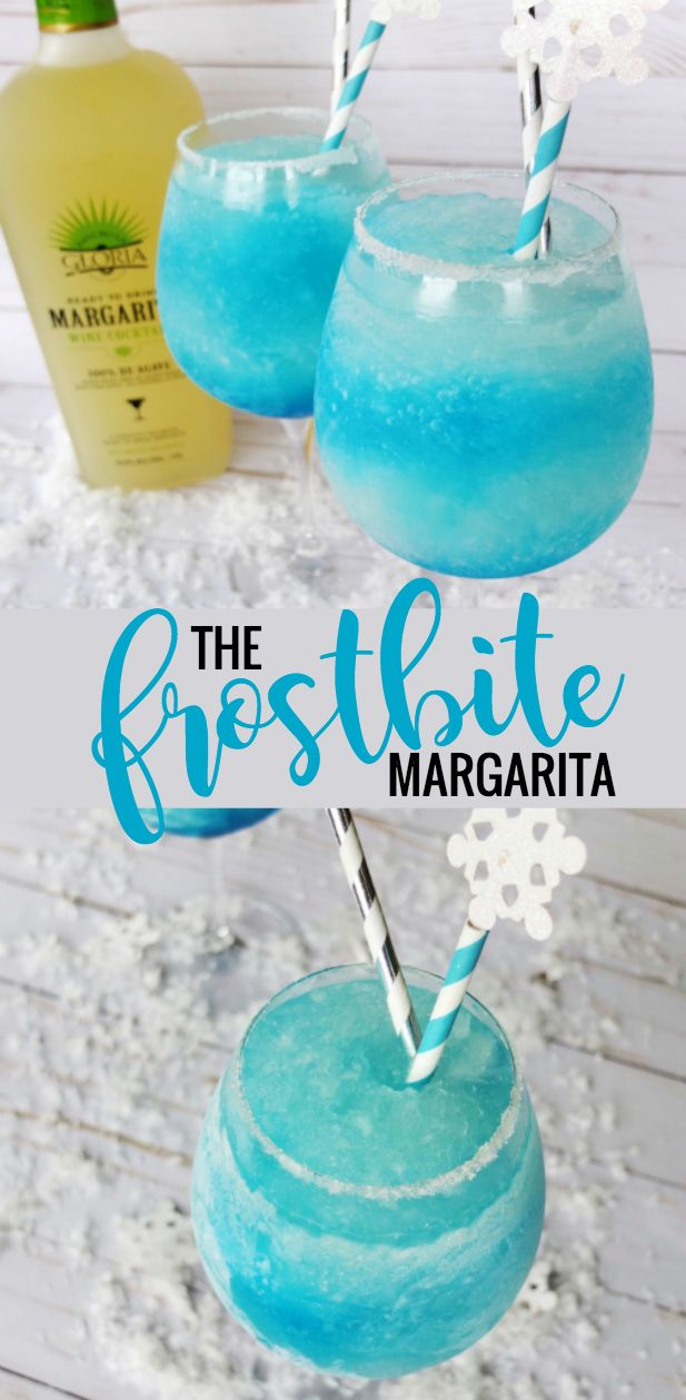 A frozen blue margarita using blue curacao and pre-made margarita with Rancho La Gloria Ready To Drink Margarita Wine Cocktail from H-E-B! Easy holiday layered cocktail and fun blue curacao cocktail. Served in H-E-B Kitchen & Table Full Body Red Wine Glass #AD #PrimoPIck