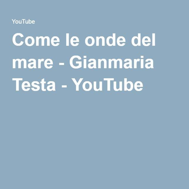 ...la poesia  di Gianmaria Testa - YouTube