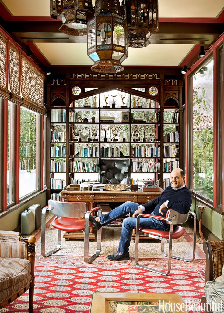 Inside Mad Men Creator Matthew Weiner's Home Office  - HouseBeautiful.com