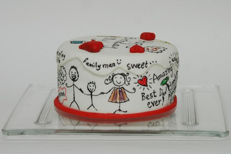 My husband's Birthday cake by Deemaz Cupcakes etc