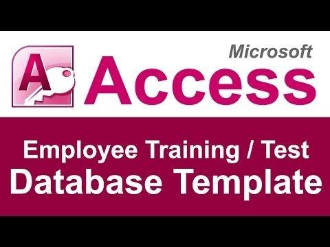 Employee Training and Test Tracking Database Template - YouTube