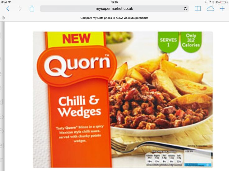 Quorn Chilli & Wedges 400g pack = 2syns