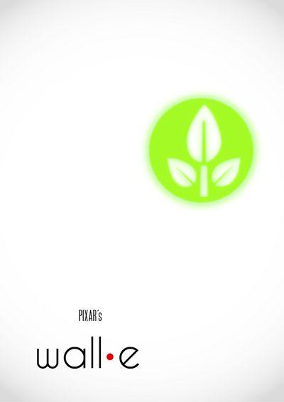Wall-E Movie Poster Design by Sabrina Jackson. 16 Minimalism Movie Poster Designs #minimalism #design #poster