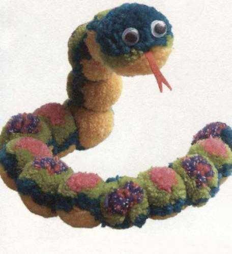 pompons snake                                                                                                                                                                                 More
