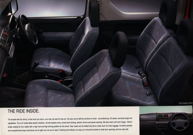 Suzuki Jimny interior - The Urban Cowboy; 2000_2  Australia | auto car brochure | by worldtravellib World Travel library - The Collection