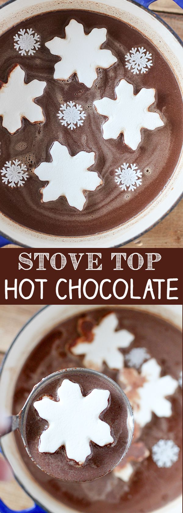 Stove Top Hot Chocolate - easy homemade, real hot chocolate.