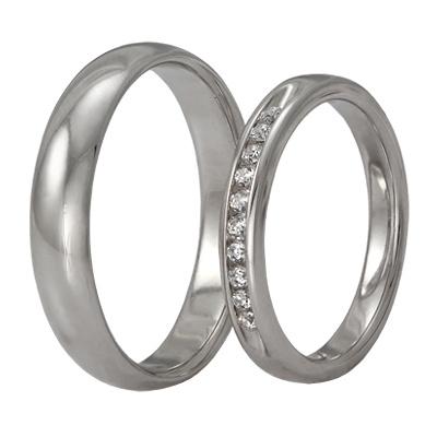 Обручальные кольца из белого золота с бриллиантами, артикул WR01-1F42 - купить по лучшей цене, описание, характеристики, фотографии