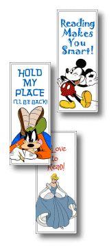 Print Bookmarks - We Love Disney - Pixar - Dreamworks - Looney Toons - Nickelodeon - BillyBear4Kids.com