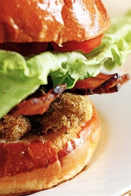 Fried Oyster and Bacon Sandwiches... | Heaven on a bun... | Pinterest
