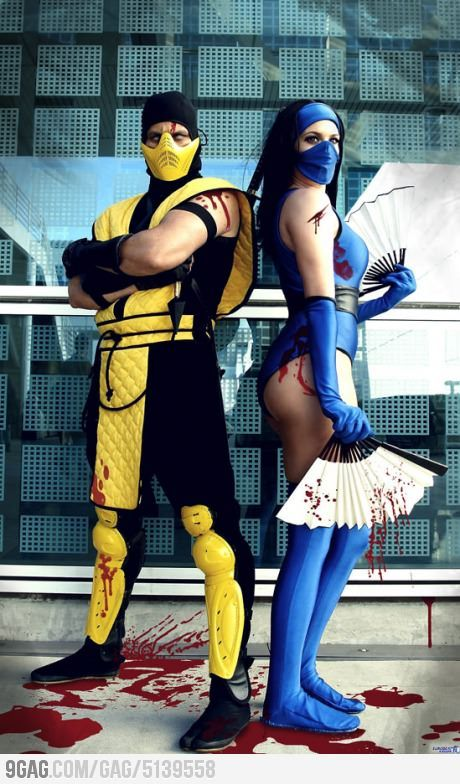 Scorpion and Kitana Now THAT is the best couples costume I've seen