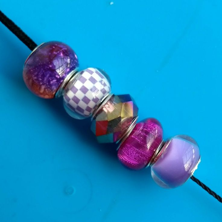 5 pcs lots of these purple European beads are now in stock in my #etsy shop. Please take a look. Thanks Fiona #beads #charms