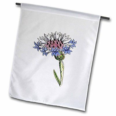 Picture of 1859 Drawing of A Thistle Plant Garden Flag 18x27in Outdoor Flag, New