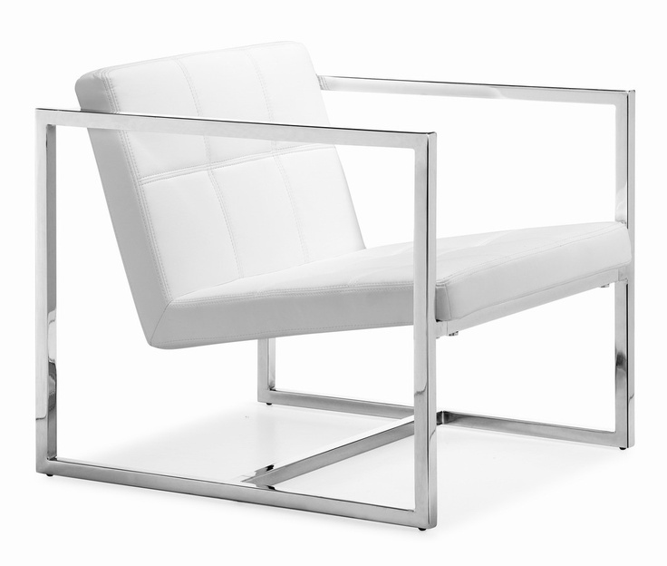 Carbon Chair White  - Zuo Modern 500074