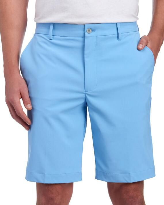 Greg Norman Flat Front Tech Stretch Golf Shorts | 44 |  polyester cotton