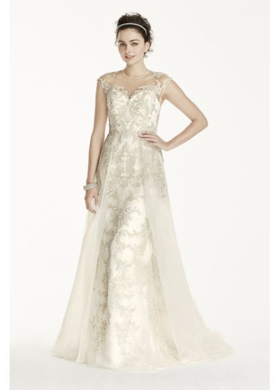 167 best oleg cassini wedding dresses images on pinterest davids oleg cassini beaded lace with tulle wedding dress at davids bridal junglespirit Choice Image