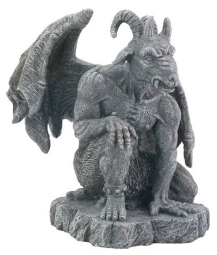 "Occult Baphomet Goat Statue Guardian Gargoyle Figure Guardian Baphomet Resin Figure / Statue. Great for the Desk or Office or any Home Decor. · L: 5.25"" x W: 5"" x H: 6"" · Very detailed and well sculpt"