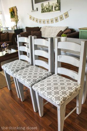 The 25 best recover dining chairs ideas on pinterest - How to reupholster a living room chair ...