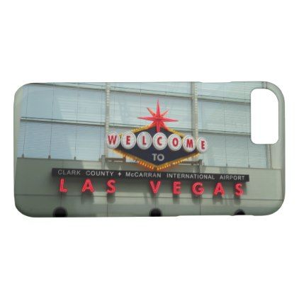 Welcome to Las Vegas Airport Sign iPhone 8/7 Case - diy cyo personalize special unique