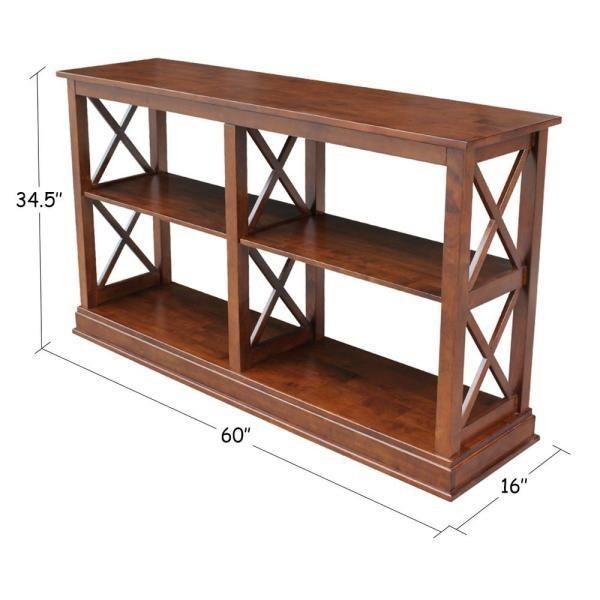 International Concepts Hampton Espresso Console Table Ot581 70sl Contemporary Wood Console Console Table Shelves