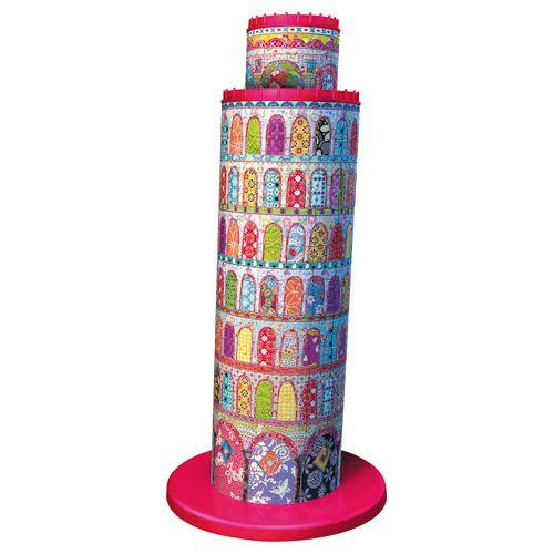 Puzzle 3D Turnul Din Pisa Colorat, 216 Piese | Bebeart