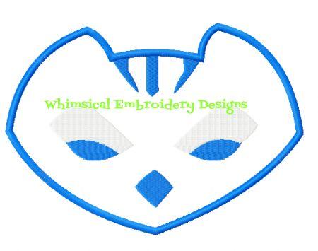 Catboy PJ Masks Logo Wwwwhimsicalembroiderydesigns
