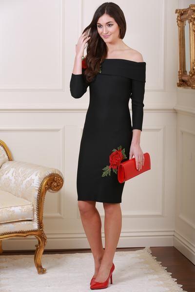 Jacqui e red dress yt