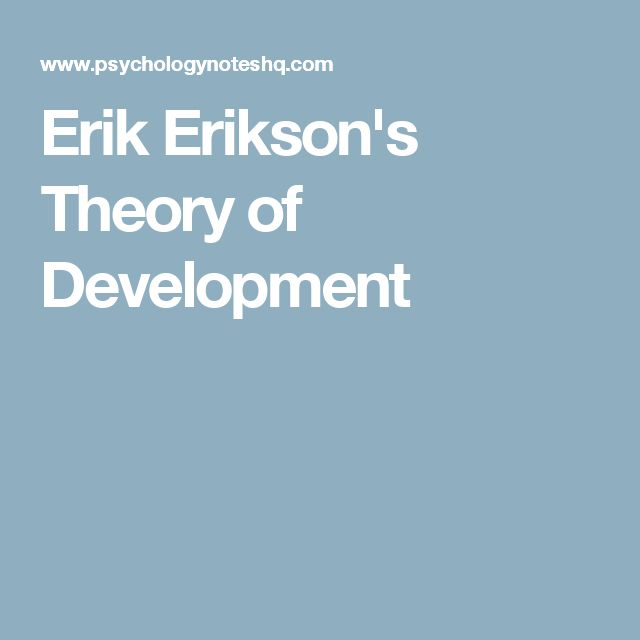 erik erikson child development theory pdf