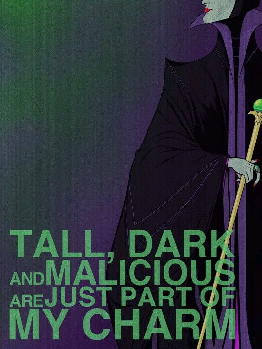 Maleficent - Villain Affirmation Posters by Christopher Ables