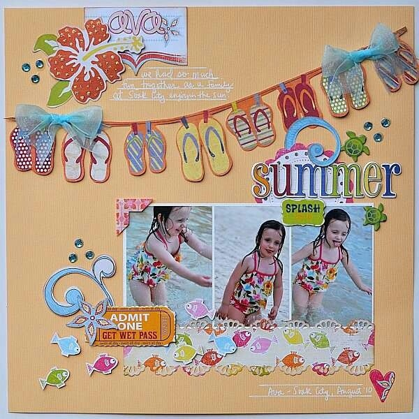 flip flop fun - LOVE the flip flop banner