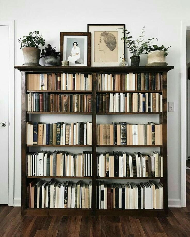 Pinterest F O R T F I E L D Neutral Spines Of Books Eclectic Grouping On Top Of Bookshelf Home Decor House Interior Interior