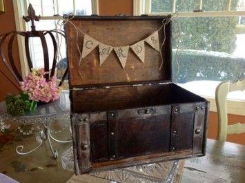 Rustic Vintage Wedding Card Box