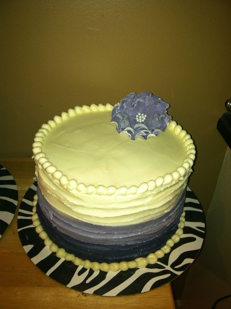 Pretty 3 layer purple ombré cake | My cakes;) | Pinterest
