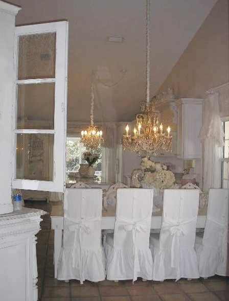 17 best images about shabby chic cottage style on pinterest beige room shabby chic and shabby - Shabby chic dining room chair covers ...