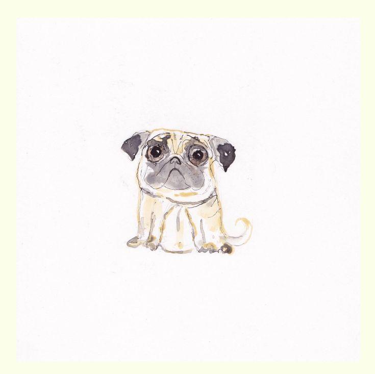Pug dog has arrived at the Inky Creatures #etsy shop: #Pugdog #original #funny #painting. #Pugpainting. #PugArt. #PugWallart. http://etsy.me/2yL4eBb #art #pugdogart #pugart #originaldogart #dogwallart #dogloversart #funnypugdog #animalart #funnyanimalart