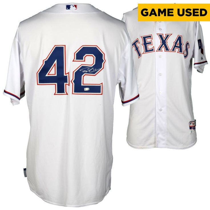 Yu Darvish Texas Rangers Fanatics Authentic Autographed Game-Used Jackie Robinson Day #42 Jersey vs Seattle Mariners on April 15, 2016