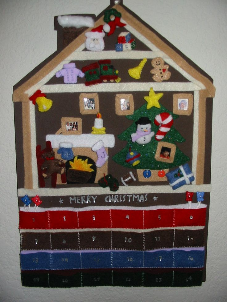 Advent Calendar - Made this years ago for my nephew. Can I make another one for my own daughter? ^_^'