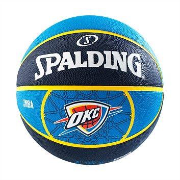 Rebel Sport - Spalding NBA Thunder Team Basketball Size 7