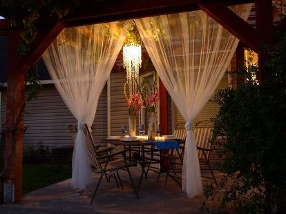 11 stunning patio ideas for under 100, decks, home decor, outdoor living, repurposing upcycling, Backyard Getaway via Live Gorgeously
