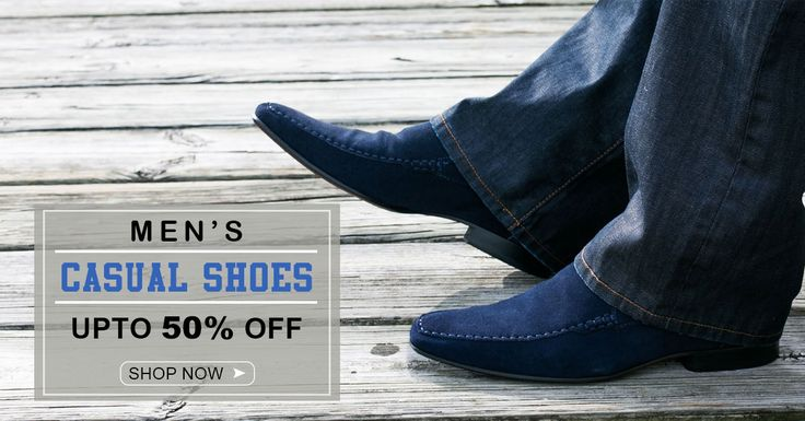 Get an Exclusive range of Men's Casual #Shoes at markdown prices.Hurry! #Men's #Shoes